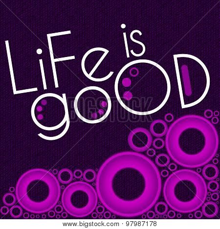 Life Is Good Purple Pink Rings