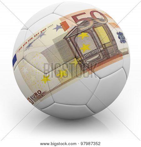 50 euro on a football