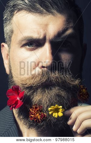Man With Flowerbed On Head