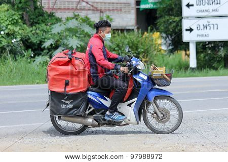 Postman of Thailand Post.