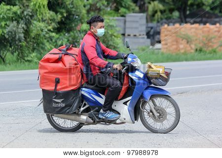 Postman of Thailand Post.
