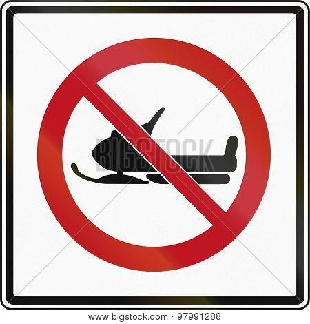No Snowmobiles In Canada