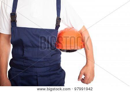 Builder With Orange Hardhat