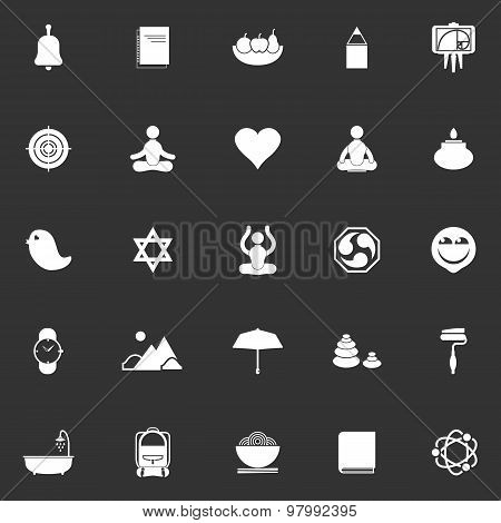 Zen Society Icons On Gray Background