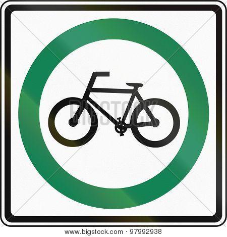 Bike Route In Canada