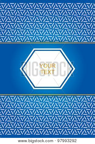 Vector Template With Seamless Motif