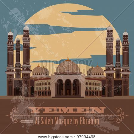 Yemen  infographics, statistical data, sights. Vector