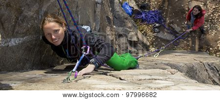 Female climbers
