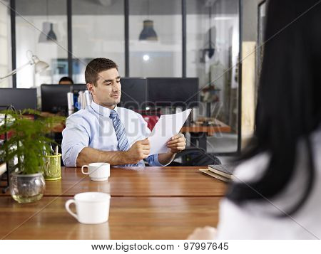 Hr Manager Conducting An Interview