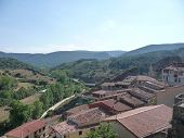 View of the village of Frias, in Spain poster