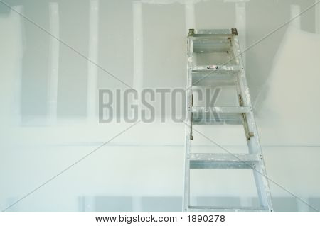 New Sheetrock Drywall & Ladder Abstract Background