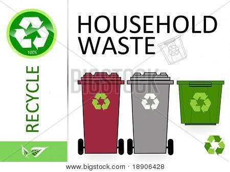 Please recycle household waste