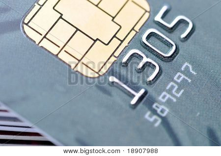 Close-up Business chip card