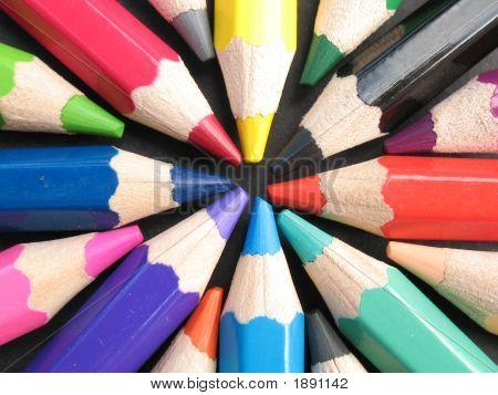 Colored Pencils Rainbow