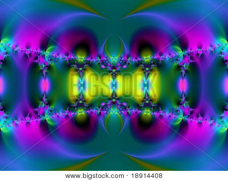 futuristic fractal, possible connotations: hypnosis, psychedelic