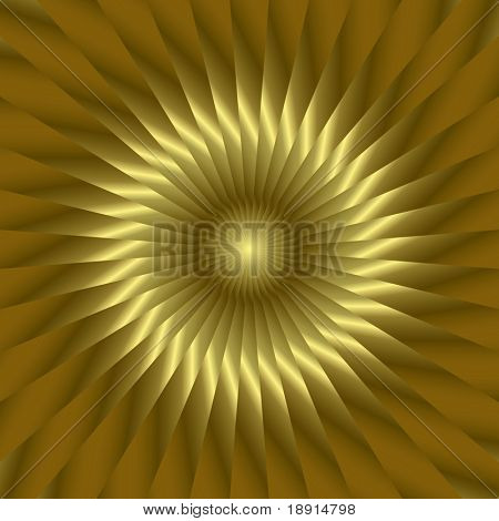 abstract golden sun, could be also a sunflower