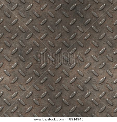 grungy metal diamond plate, seamlessly tillable