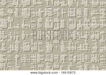 abstract hieroglyph style background