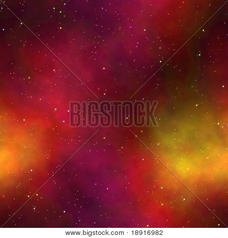 night sky with tiny stars and Aurora Borealis