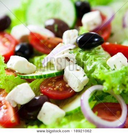 Close-up de salada grega