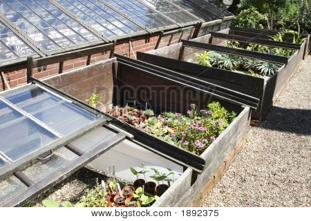 Coldframes Outside A Glasshouse