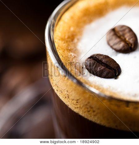 Close-up of Caffe Macchiato