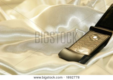 Cell Phone On Satin