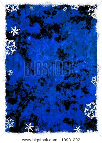 grunge winter background with snowflake