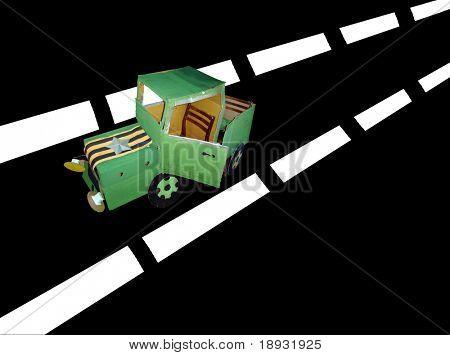 Paper military car