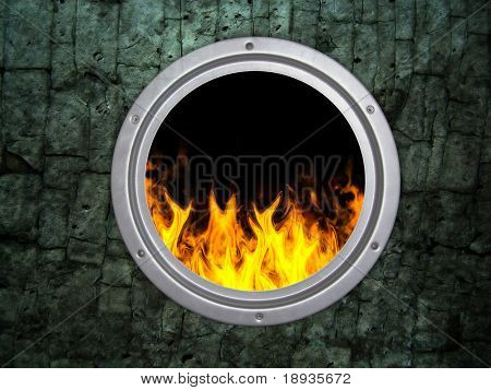 old round kiln and fire