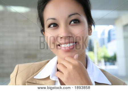 Pretty Asian Business Woman
