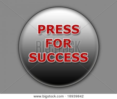 Illustration of a button for successful achievement