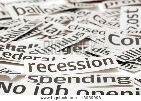 Recession headlines for a bad economy