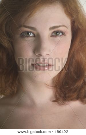 Close Up Of A Lovely Redhead