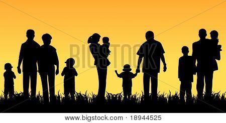 Junge Menschen mit Kindern