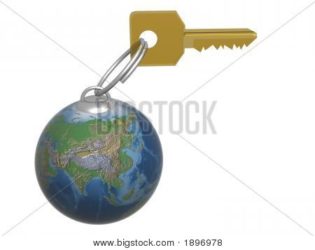 Key From The World. 3D Object.