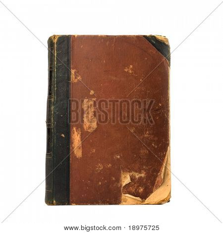 ramponiert Buch isolated on white background