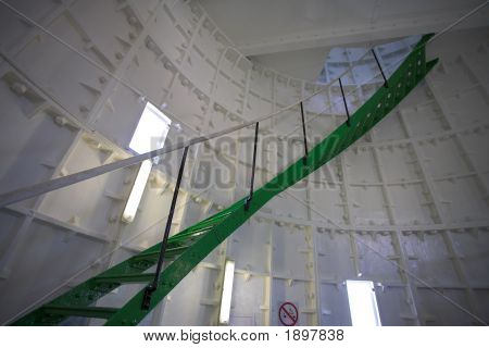 Spiral Staircase Inside A Lighthouse