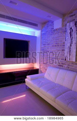 Guest room cool lighting