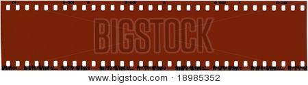 A strip of unused 35mm film.