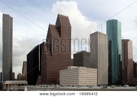 ein Teil der Gebäude in Houston Texas Skyline.