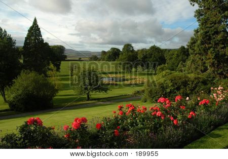 Classical Garden In Scottish Estate