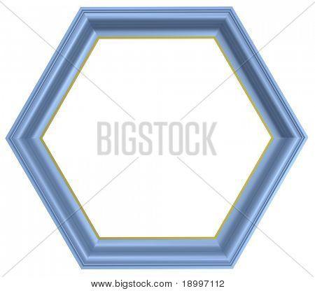 blauer Rahmen isolated on white Background. Computer generierte Foto-3d-Rendering.