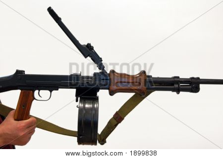 Close-Up Of Soviet Machine-Gun Rpd-44 I
