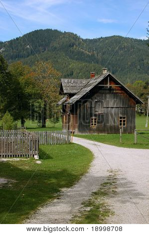 Old wooden country house.