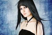 picture of gothic female  - Gothic portrait of a young girl - JPG