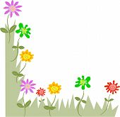 picture of dtp  - floral page corner design - JPG