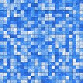 smooth irregular blue background of bathroom or swimming pool tiles or wall, tiles seamlessly as a p