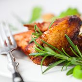 pic of roast chicken  - Roast chicken with rosemary - JPG