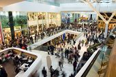 stock photo of mall  - Crowd in the mall - JPG
